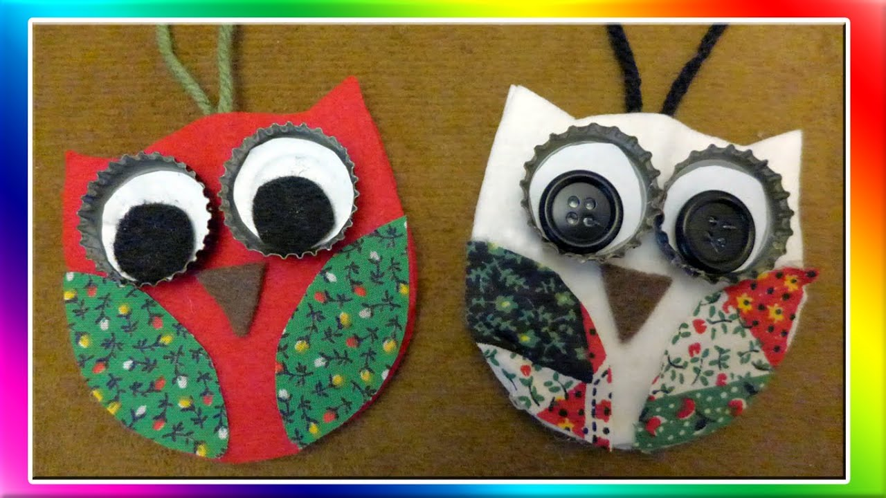 Easy owl christmas ornaments youtube for Simple christmas decorations to make