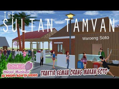 Sultan Tamvan traktir semua orang makan soto SAKURA SCHOOL SIMULATOR warung soto + rumah kampung