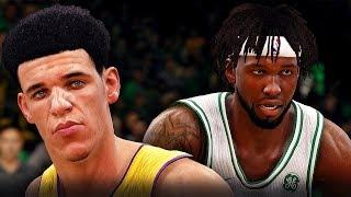 NBA Live 18 The One Career | Lonzo Ball Put Back Dunk! LeRange Does It All!!