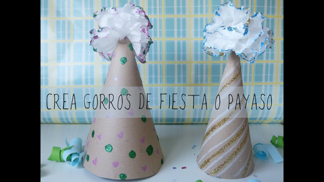Sombrero de papel para fiesta o disfraz de payaso [Carnaval 2015 ...