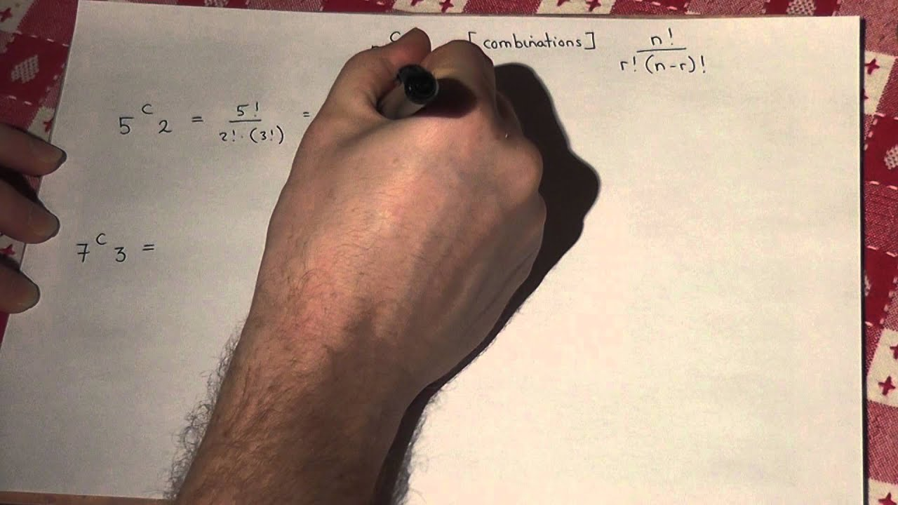 nCr without a calculator for Core or Stats - A-level maths revision video