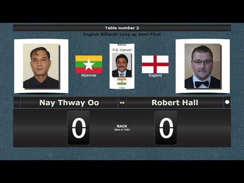 Billiards Long up 1/2 Final : Nay Thway Oo vs Robert Hall