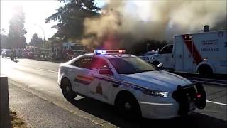 Fire destroys house on 96 Ave and 134th St, Surrey, BC