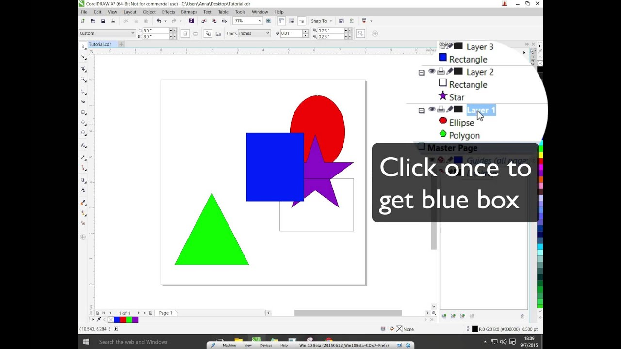 Coreldraw X7 Organizing Layers Youtube