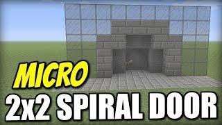 Minecraft Xbox - 2x2 SPIRAL DOOR [ Micro ] Redstone Tutorial - PE / PS4 / PS3 / Switch