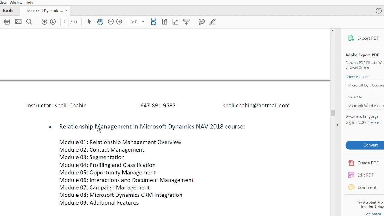 Microsoft Dynamics Nav Training Courses Youtube