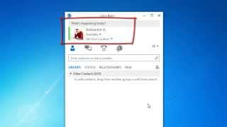 Microsoft Lync 2013: Log in to Lync and Add a Personal Note