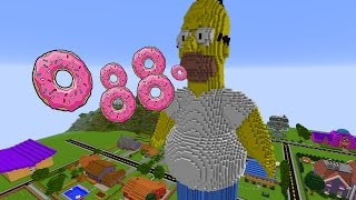 MINECRAFT vs SIMPSONS : GIGA HOMER VS REZENDEEVIL !!!