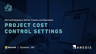 Dynamics 365 Operations: Project Cost Control Settings