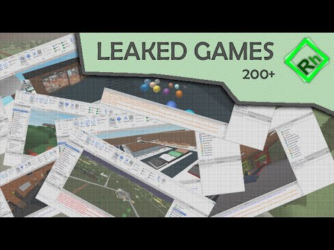 200+ POPULAR ROBLOX GAMES LEAKED - YouTube