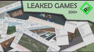 200 Popular Roblox Games Leaked By Finserxd