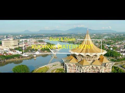 KUCHING WATERFRONT || DUSK & DAWN || DJI MAVIC 2 ZOOM