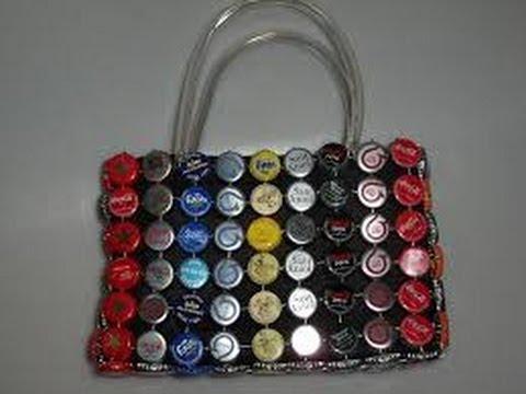 Diseños de lechuzas con latas y tapitas de gaseosas recicladas.