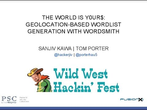 The World Is Y0ur$: Geolocation Based Wordlist Generation With Wordsmith
