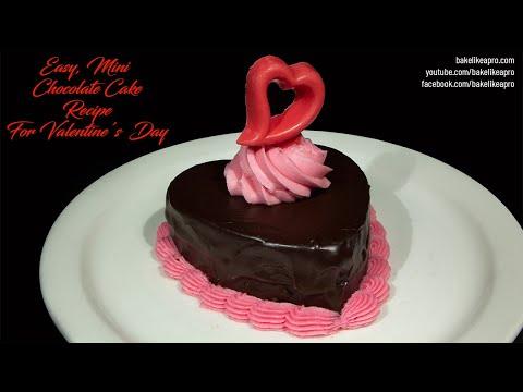 Easy Mini Chocolate Cake For Valentine's Day