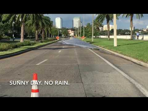 King Tide surge in Tampa Bay. October 7, 2017