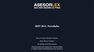 Novedades IRPF 2015