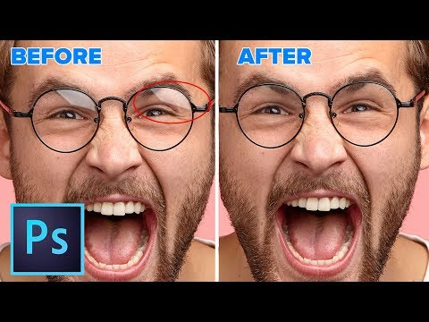 How to REMOVE reflections from glasses in PHOTOSHOP | NOT what you expect. thumbnail