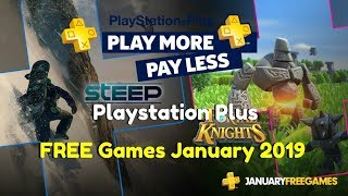 Playstation Plus | January 2019 Free Games | Ps4, Ps3 , Ps Vita