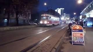 Трамваї Києва вночі | Tatra T3 , Pesa / Трамваи Киева ночью | Tatra T3, Pesa