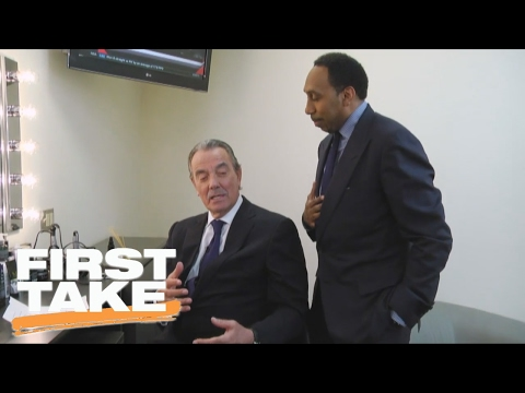 Soap Opera Star Eric Braeden Impersonates Stephen A. Smith  First Take  February 9, 2017