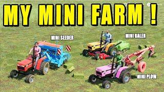 My Mini Farm! My All Hobby Vehicles!! Mini Seeder - Plow - Baler - Mower... Farming Simulator 19