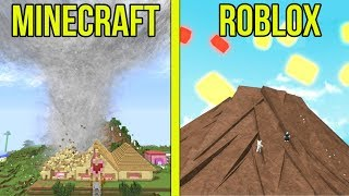 MINECRAFT VS ROBLOX: SOPRAVVIVERE I DISASTRI!!!