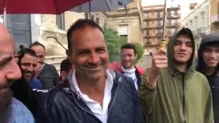 Danilo Quarto a Trani. L'accoglienza dei tifosi