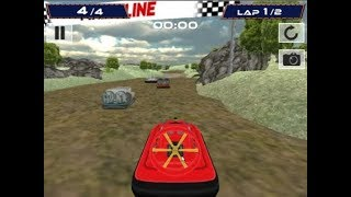 Cross terrain racing game track1 complete player positon 1st