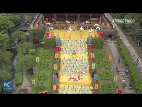 Chinese honor Yellow Emperor on Tomb Sweeping Day