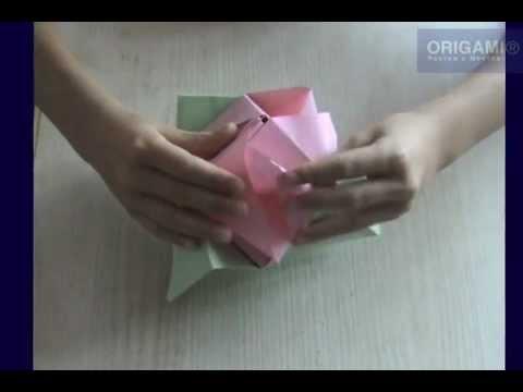 Роза-трансформер оригами