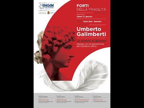 """Umberto Galimberti - Rassegna """"Forti delle Fragilità""""  Teatro Rasi di Ravenna"""