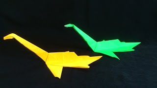 Cara Membuat Origami Dinosaurus Plesiosaurus Long Nesh | Origami Binatang