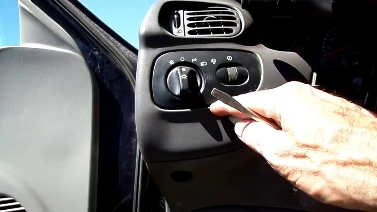 Ford F 150 Instrument Cer Headlight Switch Removal