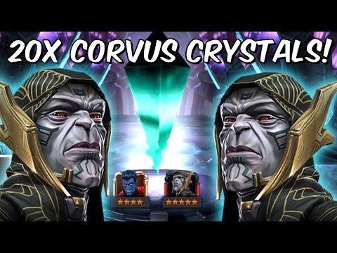 20x 5 Star Corvus Glaive Grandmaster Featured Crystal Opening! - Marvel Contest Of Champions