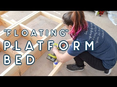 "DIY ""Floating"" Platform Bed 
