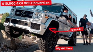 BUILDING A $300,000 MERCEDES 4X4 GWAGON AMG ON A $10,000 BUDGET!!