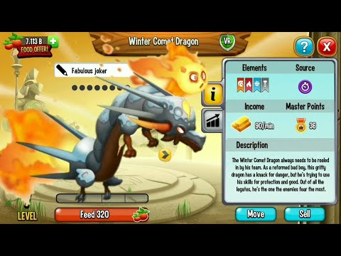 THE NEW WINTER COMET DRAGON REVIEW Dragon city