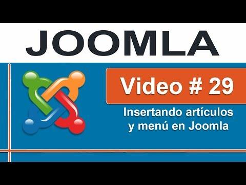 Agregando artículos y menú en Joomla