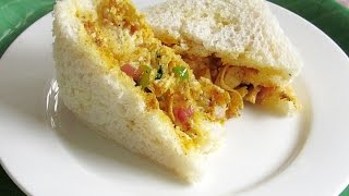 Chicken Masala Sandwich (Indian Style) Video Recipe | Nisa Homey