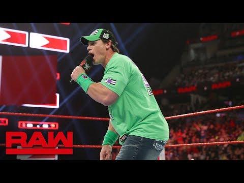 John Cena declares for the 2019 Men's Royal Rumble Match: Raw, Jan. 7, 2019