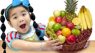 yes Yes Fruits Song | Suri Pretend Play Learning Fruit Names Nursery Rhymes & Kids Songs