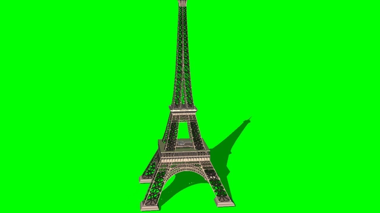 the eiffel tower on green screen 3d model free green screen