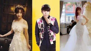 """Thấy Khởi My lần đầu mặc váy cưới đẹp lung linh, tình cũ Kelvin Khánh cũng tung ảnh """"đáp trả"""""""