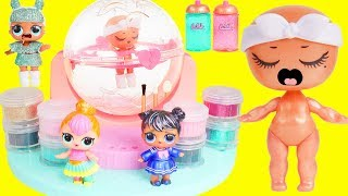LOL Surprise DIY Glitter Factory with Exclusive Lils Fuzzy Pets | Toy Egg Videos