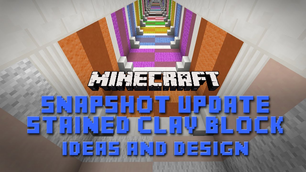 Minecraft Stained Clay Design Ideas For Houses Rooms And