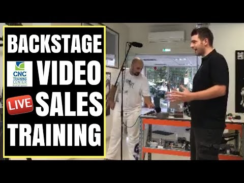 Live Sales Training and Video Presentation Training for CNC Training Center Greece.
