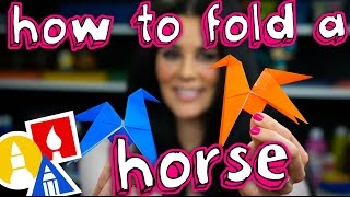 How To Fold A Flipping Horse With Mrs. Hubs