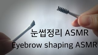 [ASMR] 눈썹정리 / Eyebrow shaping / (No talking)