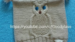 Шапка сова на ребенка. Вязание спицами. Часть 2 Knitting(Hobby).